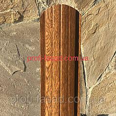 Штахетник Під Дерево 105мм 115мм евроштакетник штахет Золотий Дуб, 105