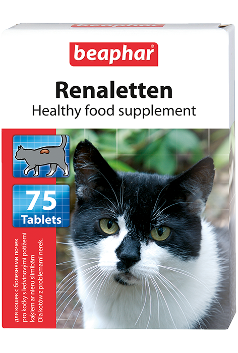 Кормовая добавка Renaletten для кошек с почечными проблемами 75 табл.