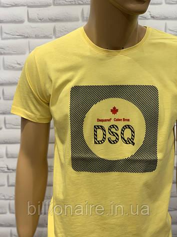 Футболка чоловіча DSQ Репліка Жовтий, фото 2