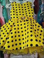 Нарядное платье в горошек Ретро для девочки на 6-9 лет
