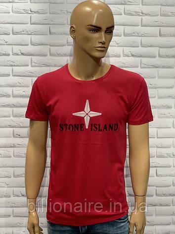 Футболка Stone Island Червоний, фото 2
