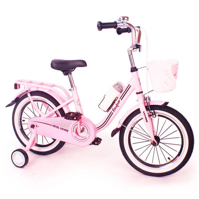 Іспанська Дитячий Рожевий Велосипед CASPER-14 дюймів(від 4 років) для дівчинки з кошиком і багажником