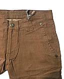 Мужские джинсы Franco Benussi E PNT 318 из льна коричневые, фото 3