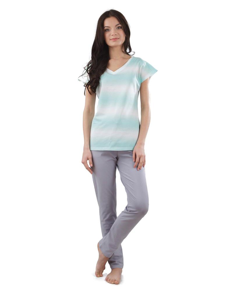 Пижама женская: футболка и штаны (XS-2XL)