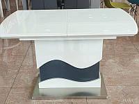 Стол трансформер TMT-80 раскладной, высота регулируется, цвет белоснежный с серым (120-150)х75х(60-77) Н