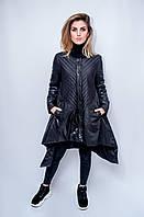 Женская куртка демисезонная Boruoss. Черный цвет.