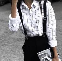 Женская рубашка клетка С, М, Л