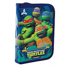 """532186 Пенал твердый YES одинарный с двумя клапанами""""Turtles"""""""