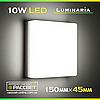 Светодиодный светильник LUMINARIA NLS-10W AC170-265V 10Вт 900Lm 5000K (настенно-потолочный)