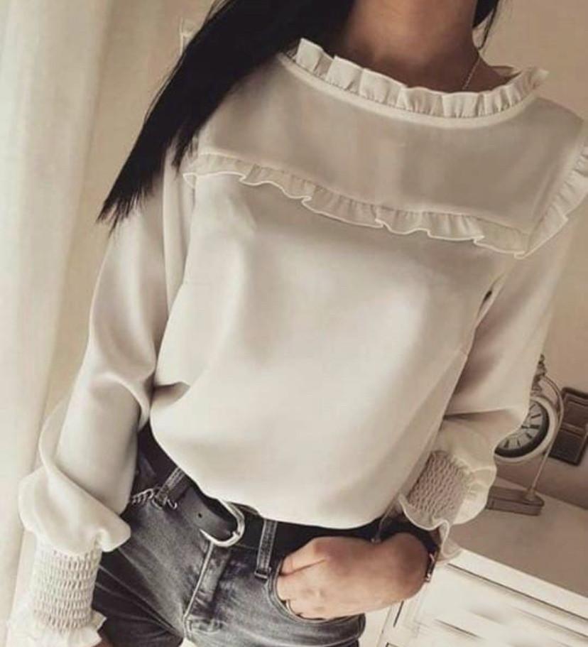 Женская блузка с рюшами С, М, Л