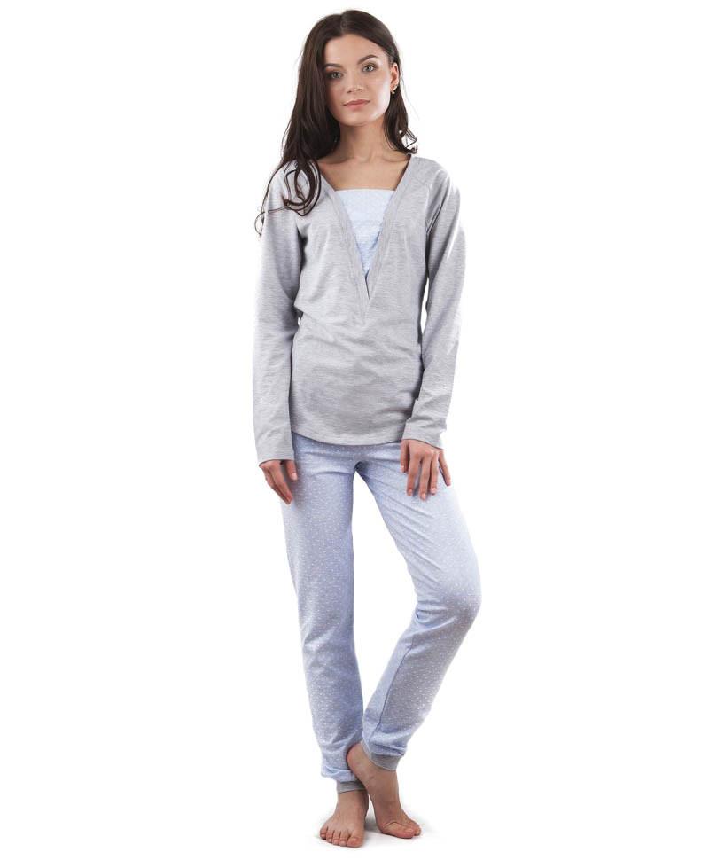 Пижама женская: штаны и кофта (XS-2XL)