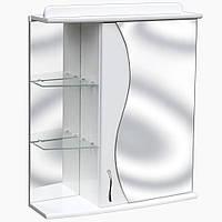 Зеркало-шкаф в ванную с подсветкой розеткой и выключателем З-15 (50-70 см)