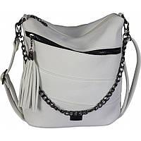 Женская,стильная сумка клатч, материал кожзам, одна длинная ручка,три отделения (81138) белая