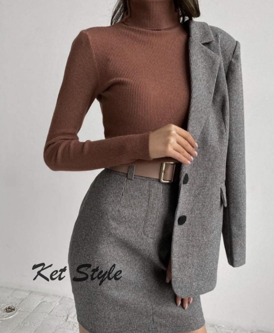 Женский костюм юбка+пиджак Турецкая шерсть 42-46 рр.