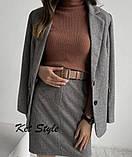 Женский костюм юбка+пиджак Турецкая шерсть 42-46 рр., фото 2