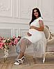 Ніжна сукня для вагітних і годування DOROTIE DR-47.202, молочна