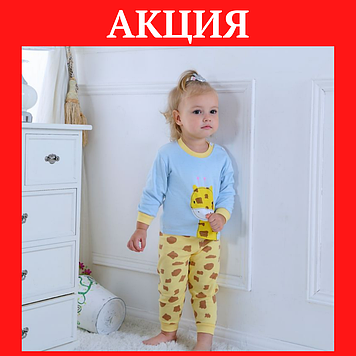 Детская пижама Пижама детская девочка Пижама детская Детская пижама жираф Детская пижама хлопок