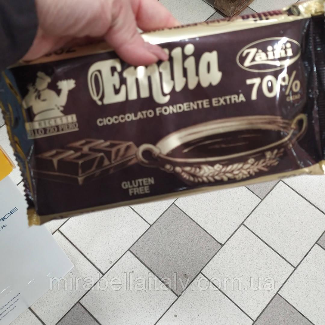 Экстра чёрный шоколад Emilia 70% какао