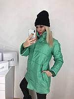 Женская куртка на синтепоне 42-46 рр. зеленый, фото 1