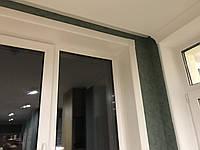 Откосы белые К100 2.1-2.1 (глубина 100мм/высота 2100мм/ширина2100мм).Набор на балконный блок