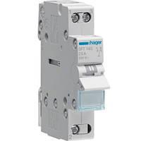 Переключатель I-0-II с общим выходом сверху, 1-полюсный, 40А/230В, 1м Hager (SFT140)
