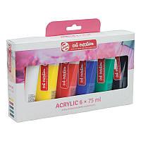 Набір акрилових фарб ArtCreation 6 кольорів в тубах по 75 мл Royal Talens, 3582806