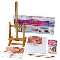 Набор акриловых красок ArtCreation Combiset 12 цветов по 12 мл мольберт холст Royal Talens, 9011713
