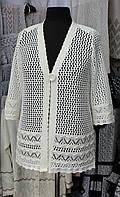 Белая ажурная накидка женская