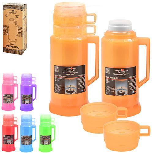 Термос для чая пластиковый, стеклянная колба 1 литр