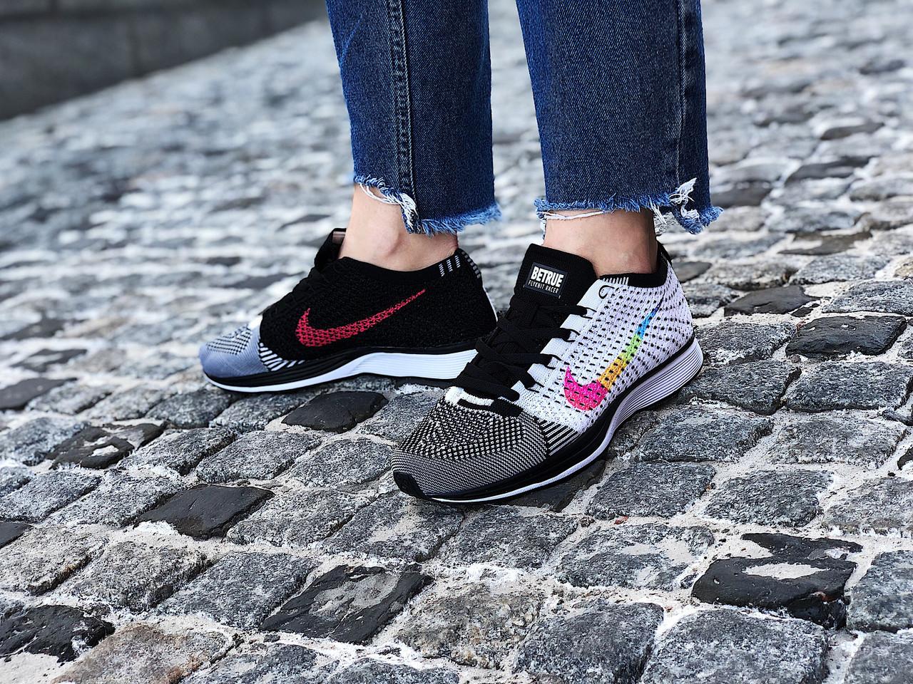 Кроссовки женские Nike Flyknit Racer (Размеры:37,39)