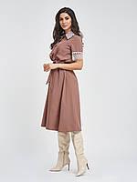 Приталенное платье с кружевом 42 44 46 48