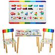 Детский столик и стульчики расцветки для девочки, фото 4