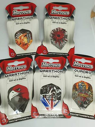 Набор дартс оперения для дротиков Harrows 15 штук, фото 2