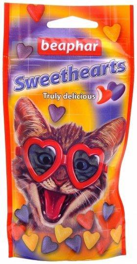 Витамины для котов Sweethearts вкусные и полезные сердечки для кошек и котят 150шт