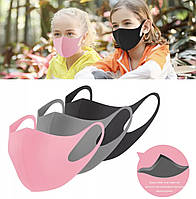Маска питта 1шт многоразовая антибактериальная  защитная для взрослых и детей Pitta Mask, розовая
