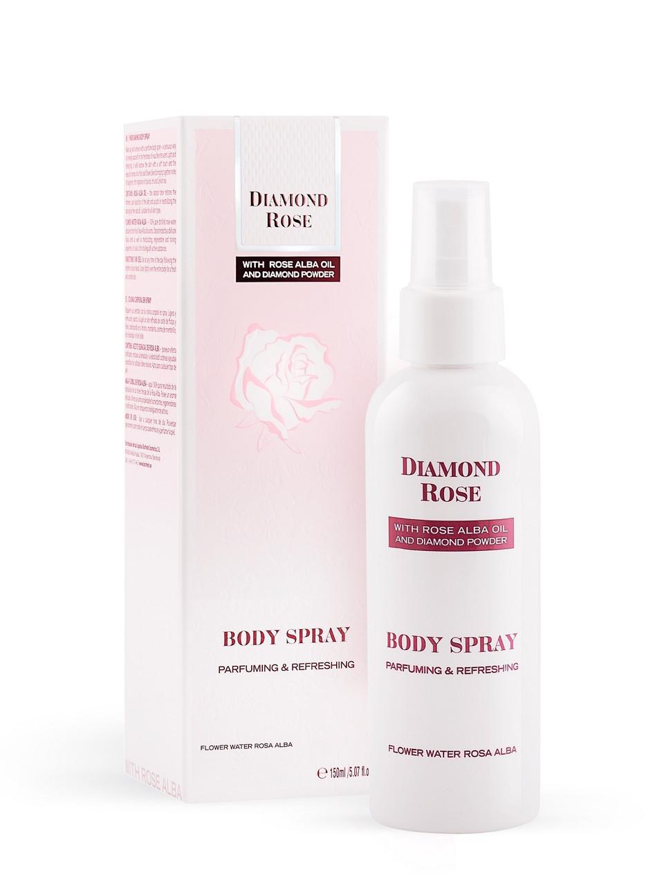 Парфюмированный спрей для тела/Parfuming Body spray Diamond Rose 150 ml