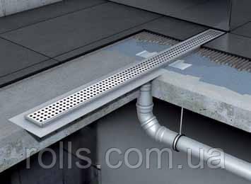 Канал душевой без сифона с вертикальным выпуском с фланцем 1085мм ACO Shower Drain C-line