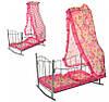 Кроватка с балдахином для кукол 47x33x67см