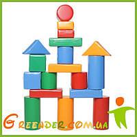 Детский мягкий конструктор большой KIDIGO «Строитель 4 Мини»