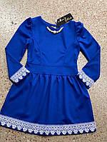 Стильное детское платье 116-134 см, фото 1