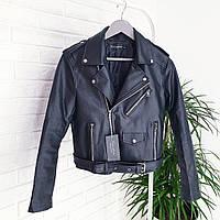 Женская косуха кожанка кожаная куртка жіноча косуха черная чёрная матовая