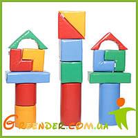 Детский мягкий конструктор большой KIDIGO «Строитель 7 Мини»
