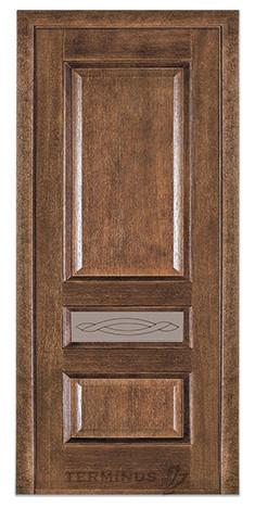 Межкомнатная дверь для квартиры Модель 53 орех американский, остекленная