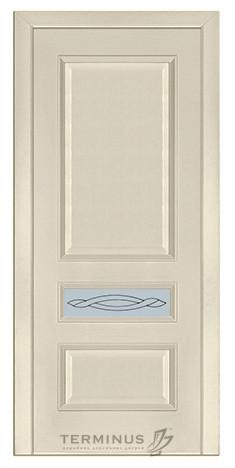 Межкомнатная дверь для квартиры Модель 53 ясень Crema, остекленная