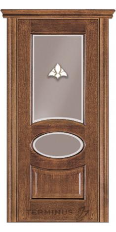 Межкомнатная дверь для частного дома Модель 55 орех американский, остекленная
