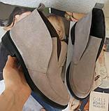 Loro Piana! Женские лоферы туфли полу ботинки натуральная бежевая замша Лора Пиана, фото 8