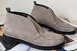 Loro Piana! Женские лоферы туфли полу ботинки натуральная бежевая замша Лора Пиана, фото 7