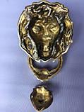 """Дверная стучалка """"Лев"""" из бронзы, фото 2"""