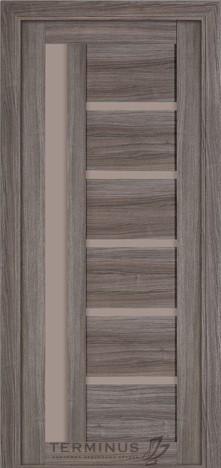 Межкомнатная дверь для частного дома Модель 108 Grey, остекленная