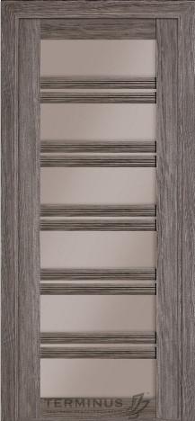 Межкомнатная дверь для частного дома Модель Милан Grey, остекленная